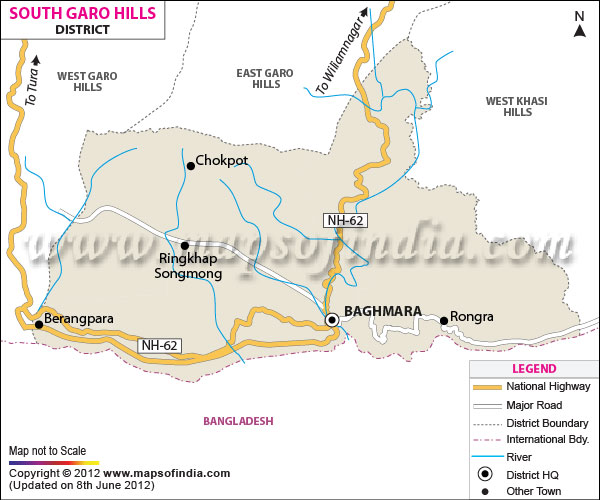 South Garo Hills District Map