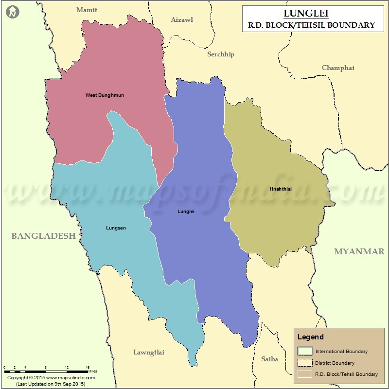 Tehsil Map of Lunglei