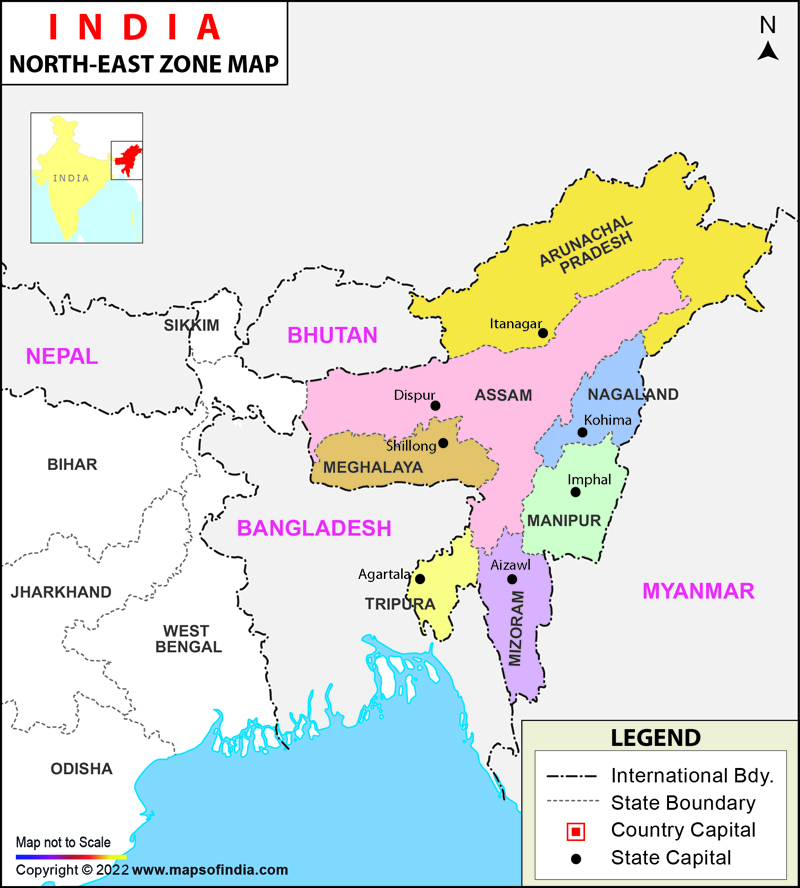 North-East India Map, Seven Sisters of India on ( ̄︶ ̄)↗  id=76711