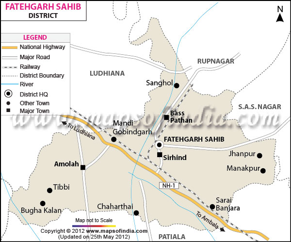 District Map of Fatehgarh Sahib