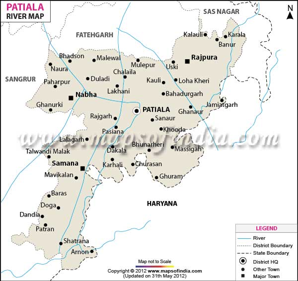 River Map of Patiala