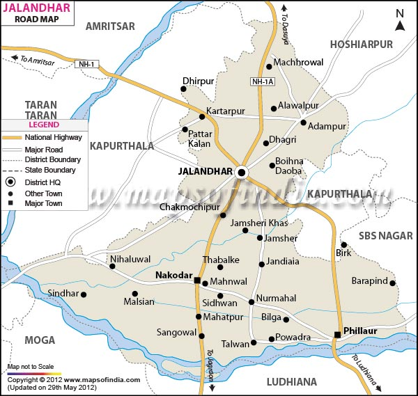 Road Map of Jalandhar