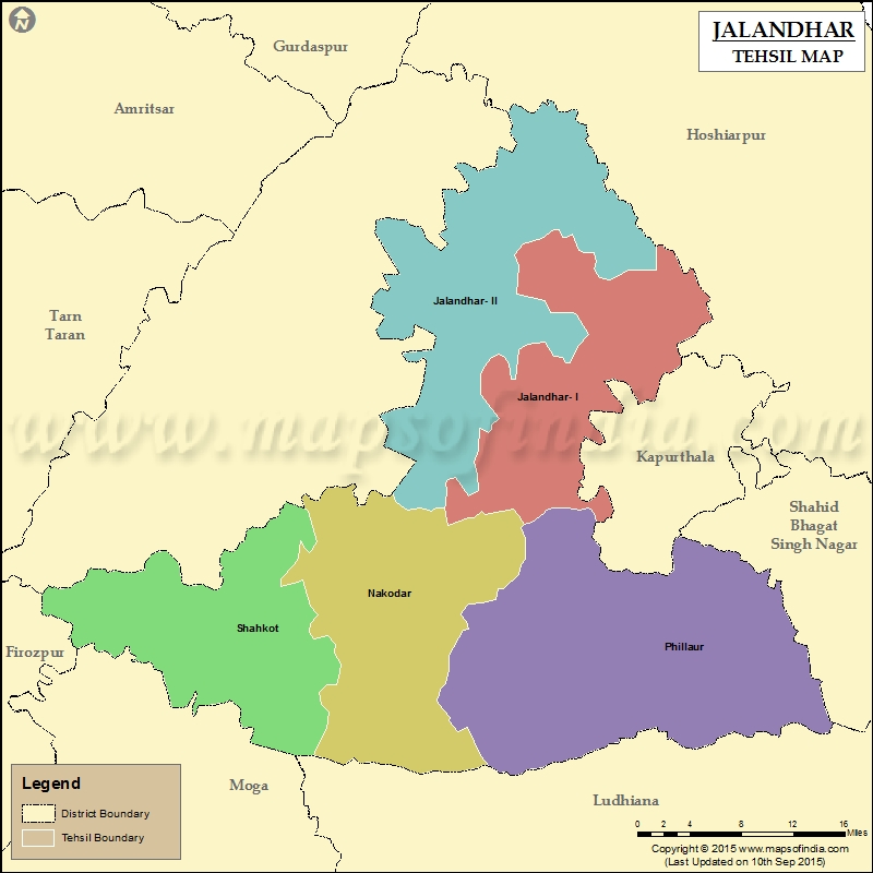 Tehsil Map of Jalandhar