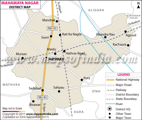District Map of Mahamaya Nagar