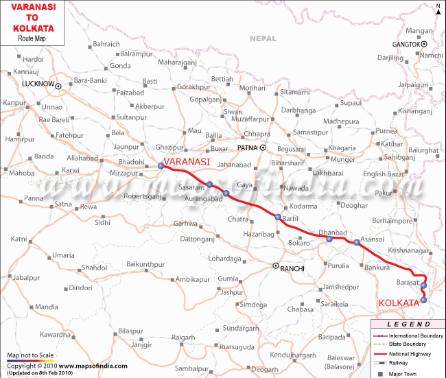 to Kolkata Route Map – Road Route Map