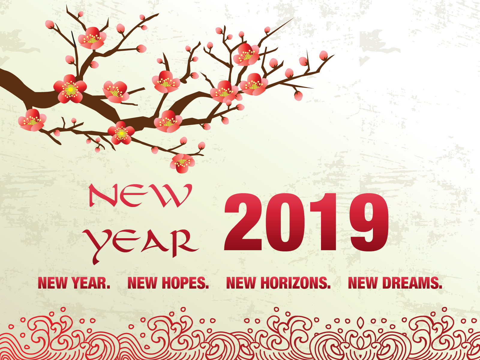 new year 2019 greetings wallpaper