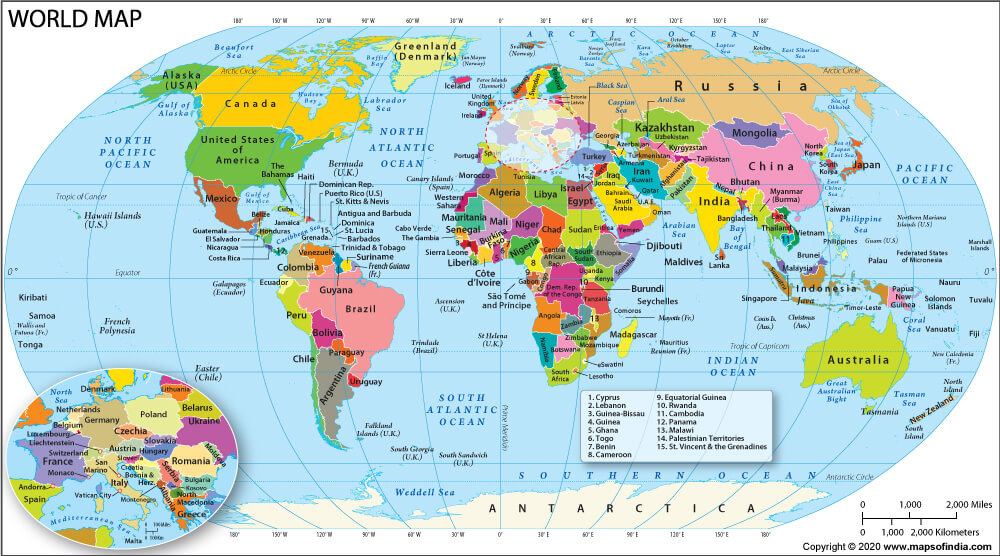 World Map Political Map Of The World